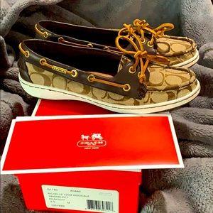 Coach Richelle boat shoe size 8.5 with box!